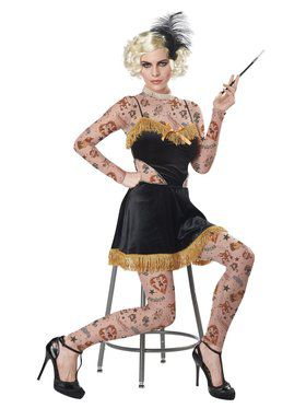 Womens The Amazing Tatooed Lady Costume