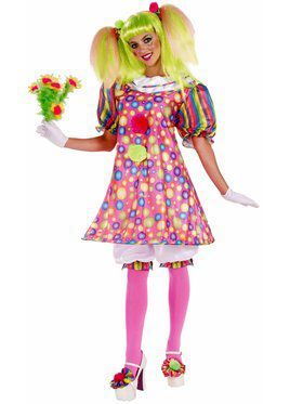 Womens Tickles The Clown Adult Costume