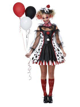 Womens Twisted Clown Costume