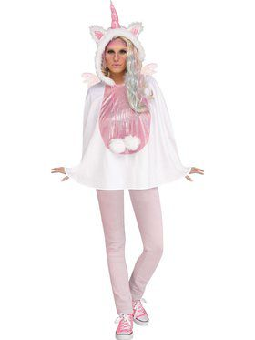 Womens Unicorn Poncho Costume
