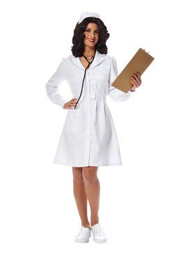 Womens Vintage Nurse Costume