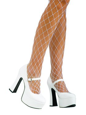 Womens Platform White Mary Janes Shoe