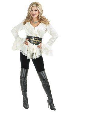 Women's White South Seas Blouse Costume
