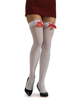 Women's White Thigh Highs with Marabou