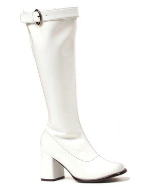 Womens Wide Width & Calf White Gogo Boot