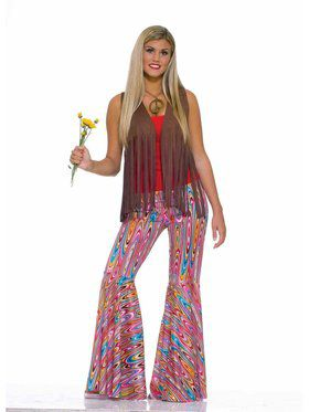 Wild Swirl Bell Bottom Pants for Women