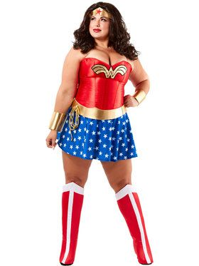 Women's Wonder Woman Plus Size Deluxe Adult Costume