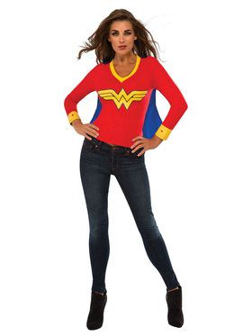 Wonder Woman Sporty Tee with Cape for Women