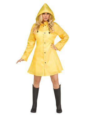 Womens Yellow Raincoat Costume