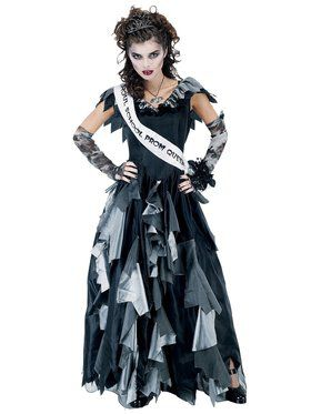 Women's Prom Queen Zombie Costume