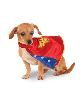 DC Comics Wonder Woman Cape Pet Costume