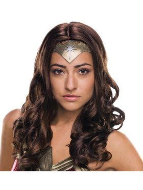 Wonder Woman Deluxe Costume Wig for Adults