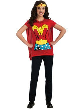 Adult Wonder Woman T-Shirt Costume Kit
