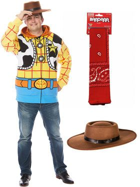 Woody Men's Toy Story 4 Hoodie Kit