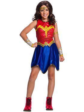 Deluxe Child WW2 Movie Wonder Woman Costume