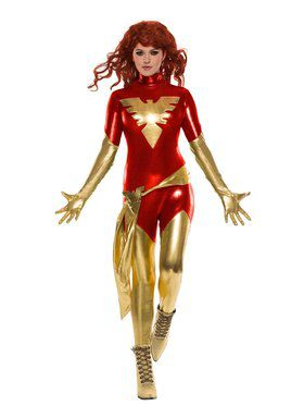 X-Men Red Dark Phoenix Sexy Costume