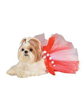 Xmas Candy Cane Tutu for Pets