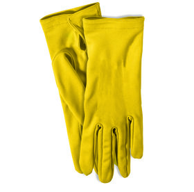 Yellow Short Gloves