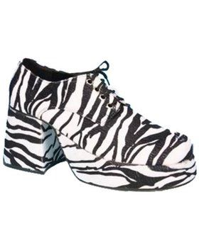 Zebra Mens Platform Shoes Adult