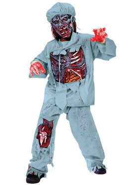 Bloody Zombie Doctor - Child Costume