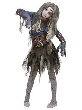 Zombie Girl Tatter Dress - Child Costume