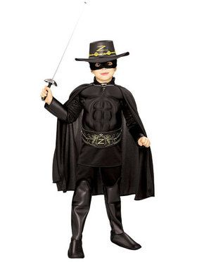 Zorro Muscle Chest Child Costume